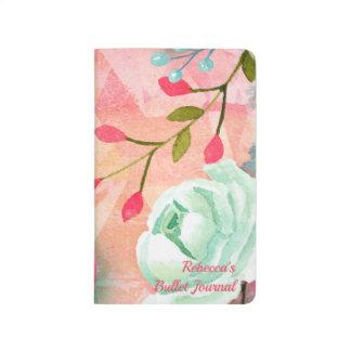Elegant & Pretty Watercolor Flower Monogram Bullet Journal