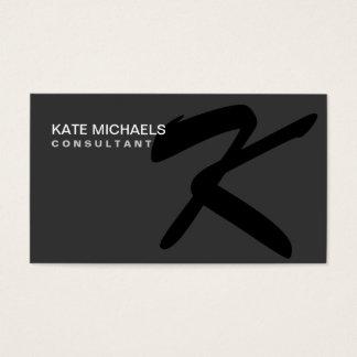 Elegant Professional Monogram Fashion Designer Business Card