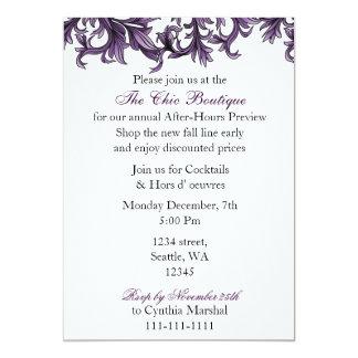 Elegant purple Business party Invitation