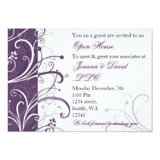 elegant purple Corporate party Invitation