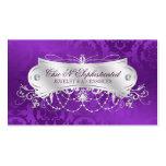 Elegant Purple Damask Swirl Pack Of Standard Business Cards
