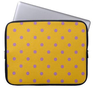elegant purple orange polka dots computer sleeves