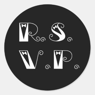 elegant r.s.v.p. stickers or envelope seals