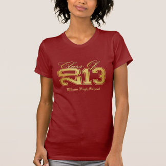 Elegant Red and Gold Class of 2013 T-shirts