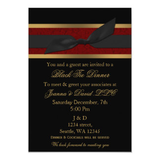 Elegant Red and Gold Corporate party Invitation