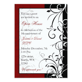 Elegant red Corporate party Invitation