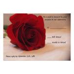 Elegant Red Rose Wedding RSVP Cards Announcements