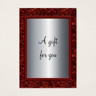 Elegant Red & Silver Christmas Gift Certificate Gi