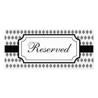 Elegant Reserved Seating Card Rack Card Template