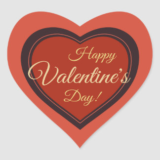 Elegant retro Valentine's Day red holiday CC0979 Heart Sticker