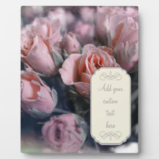 Elegant Rose Bouquet Plaque