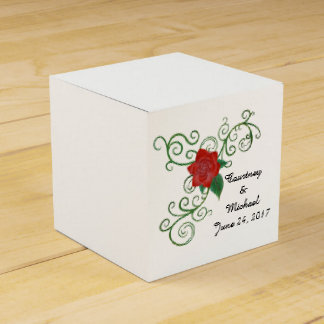 Elegant Rose Wedding Favor Box