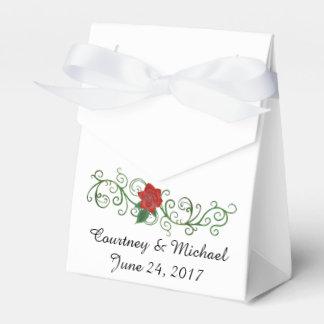 Elegant Rose Wedding Favor Box with Ribbon Party Favour Box