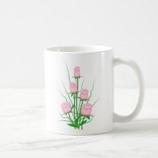 Elegant roses basic white mug