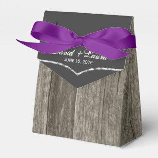 Elegant Rustic Barn Wood Chalkboard Wedding Favour Box