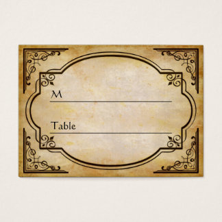 Elegant Rustic Distressed Wedding Table Place Card