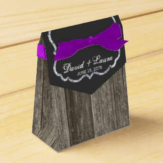 Elegant Rustic Wood Chalkboard Wedding Favour Boxes