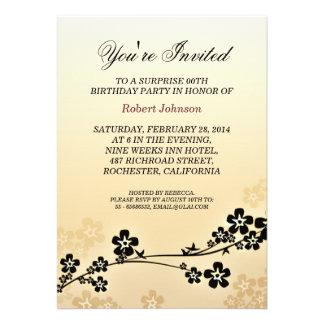 elegant sakura birthday invitations