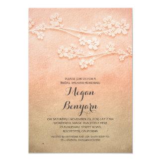 elegant sakura blossoms bridal shower invites
