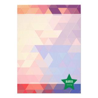 Elegant Saudi Arabia flag heart 13 Cm X 18 Cm Invitation Card