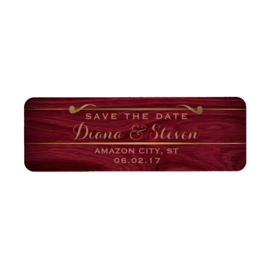 Elegant Save the Date Rustic Wood Gold Wedding