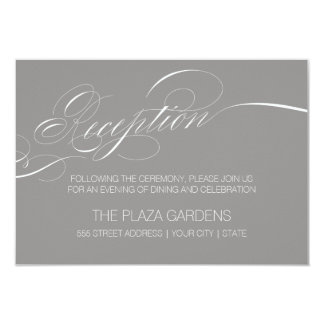 Elegant Script Reception Card