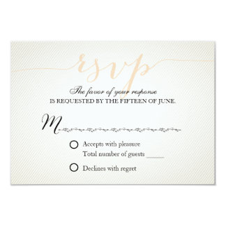 Elegant Script Wedding Response RSVP 9 Cm X 13 Cm Invitation Card