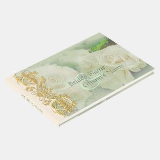 Elegant Scroll Wedding Guestbook - Mint Green 2