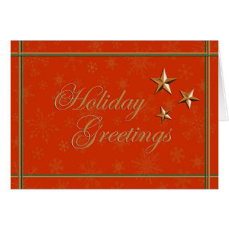 Elegant season's greetings and happy holidays card