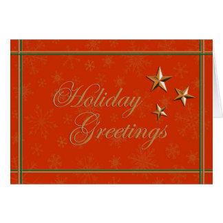 Elegant season's greetings and happy holidays greeting card