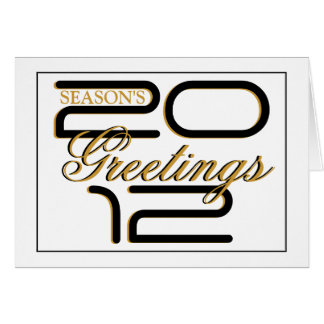 "Elegant ""Season's greetings"" gold black business Card"