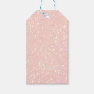 Elegant, shine, light rose gift tags