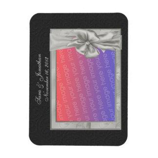 Elegant Silver Frame Wedding Favor 3x4 Magnet