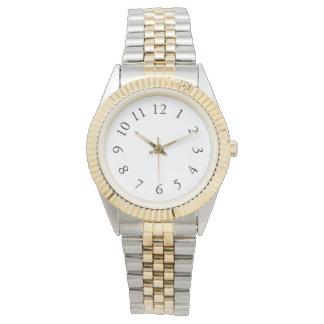 Elegant Silver & Gold Watch