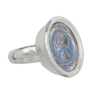 Elegant Silver Gray Shiny Blue Kaleidoscope Art