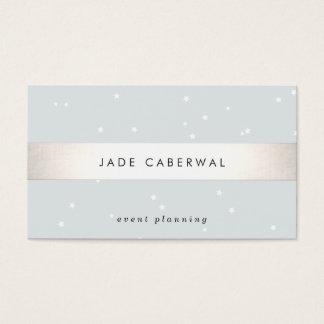 Elegant Silver Striped White Stars Event Planner
