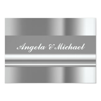 Elegant Silver Wedding Invitation