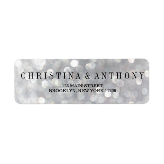 Elegant Silver Wedding Return Address Labels
