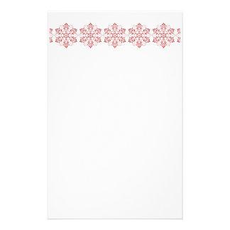 Elegant Snowflake Christmas Stationery