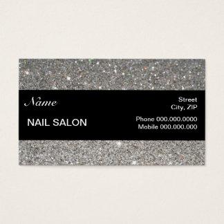 elegant Sparkles & Glitter Nail Salon BusinessCard Business Card