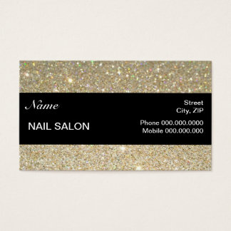 elegant Sparkles & Glitter Nail Salon BusinessCard Business Card