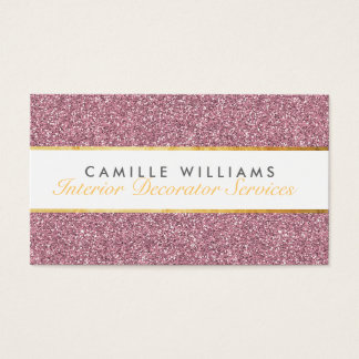 ELEGANT sparkly glamourous gold foil glitter pink Business Card