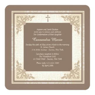 Elegant Square Religious Invitation