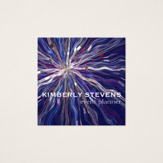 Elegant Star Ribbon Event Planner Square Business Card