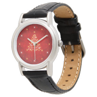Elegant Starry Christmas Tree Watch