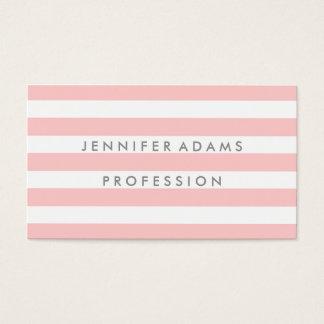 Elegant stripe modern pink business card