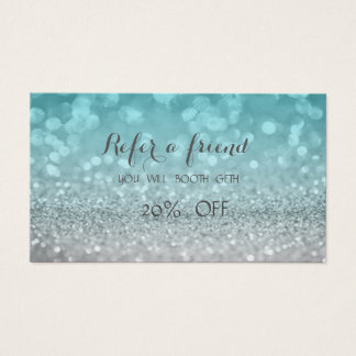 Elegant Stylish Glittery Bokeh  Referral Card