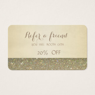 Elegant Stylish ,Glittery  Referral Card