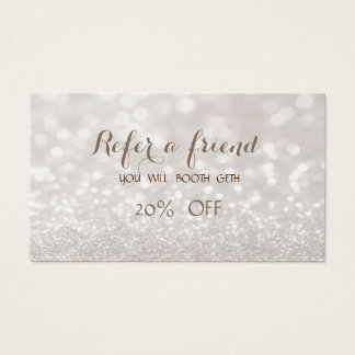 Elegant Stylish Glitttery  Bokeh  Referral Card