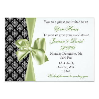 elegant stylish green Corporate Invitation
